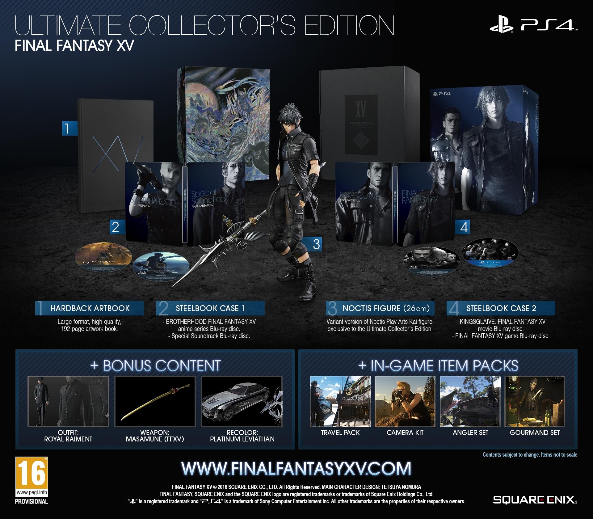 Final fantasy 15 collector